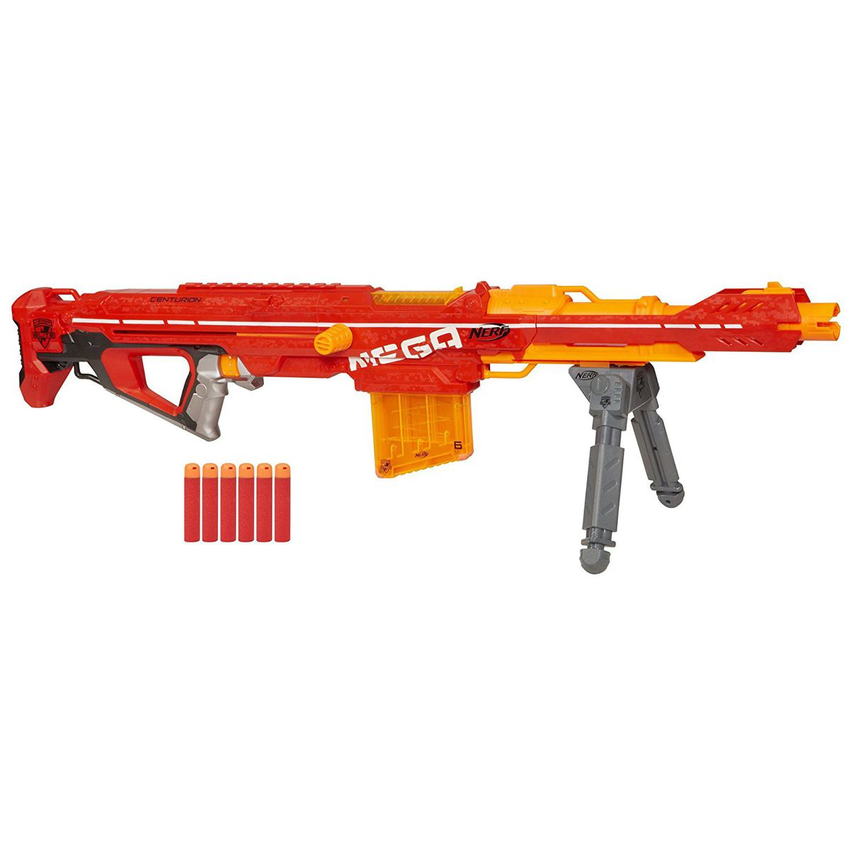 NERF ACCUSTRIKE MEGA THUNDERHAWK Blaster. (Ages 8 years & up/Approx. Retail  Price: $49.99/Available: Fall 2018)