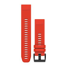 Garmin QuickFit 22mm Silicone Watch Band - Flame Red