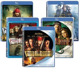 Pirates of the Caribbean 1 - 5 Bundle Collection (Blu-ray)