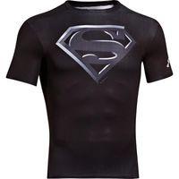 Under Armour Mens Compreshort Sleeveion Short Sleeve Superman Tee - Black
