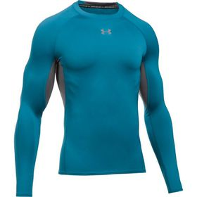 Under Armour Mens Heatgear Long Sleeve Shirt - Bayou Blue