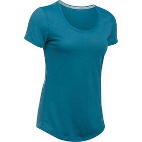 Under Armour Ladies Threadborne Streaker Short Sleeve Tee - Bayou Blue