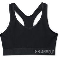 Under Armour Ladies Mid Solid Sports Bra - Black
