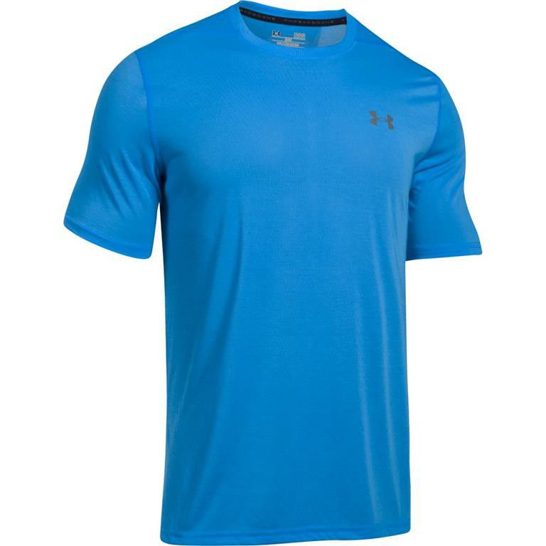 under armour threadborne. under armour mens threadborne short sleeve tee - mako blue