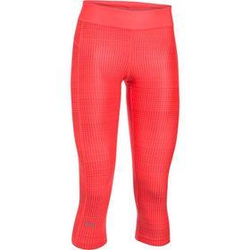 Under Armour Ladies Heatgear Printed Capri Leggings - Marathon Red