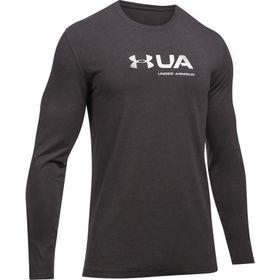 Under Armour Mens Shift Center Chest Long Sleeve Shirt - Charcoal Medium Heather