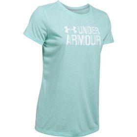Under Armour Ladies Threadborne Short Sleeve Twist Graph Tee - Blue Infinity