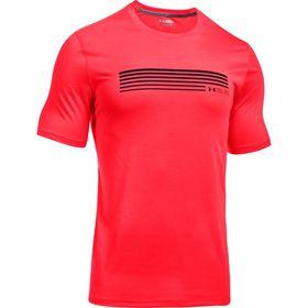 Under Armour Mens Run Graphic Short Sleeve Tee - Marathon Red