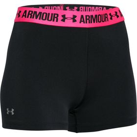 Under Armour Womens Heatgear Shorty - Black with Pink