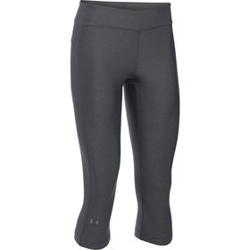Under Armour Womens Heatgear Capri Leggings - Stealth Grey