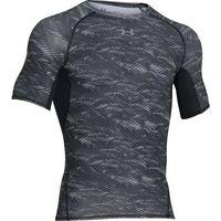 Under Armour Mens Heatgear Printed Short Sleeve Tee - Black