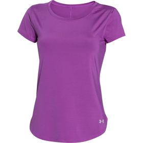 Under Armour Womens Fly By Tee - Mega Magenta