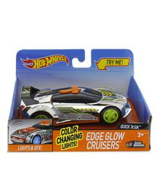 Hot Wheels Light And Sound Edge Glow Cruisers - Quick 'N Sik