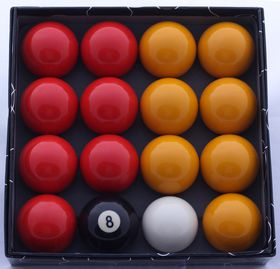 Star D Pool Balls 2 Inch Set - Yellow/Red