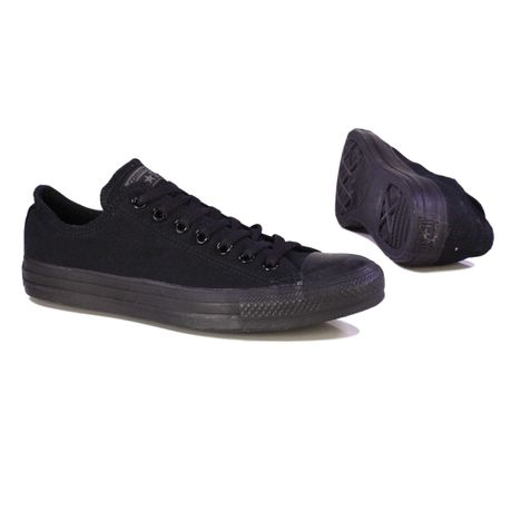 d79ae144f8f0d8 Converse Mens Chuck Taylor All Star Canvas Shoe - Black Mono