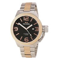 TW Steel Mens Canteen Automatic Stainless Steel Dial CB136 Watch - Black (Parallel Import)