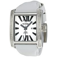 TW Steel Mens CEO Goliath CE3015 Watch - White Leather Strap (Parallel Import)