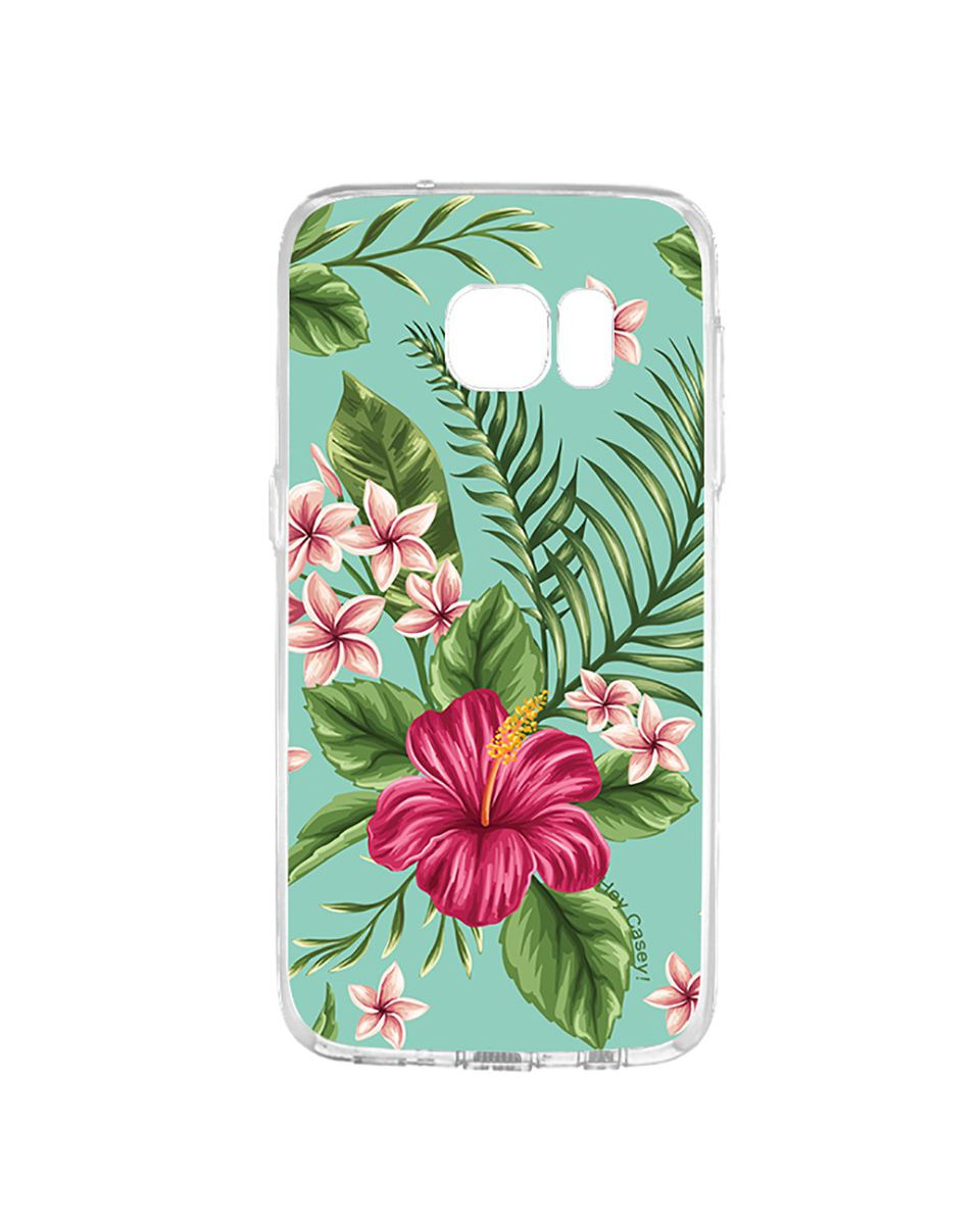 Hey Casey Hibiscus Flower With Leaves Case For Samsung Galaxy S7