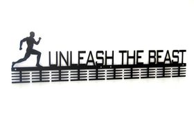 Trendyshop DC Unleash the Beast Running 80 Medal Hanger - Black