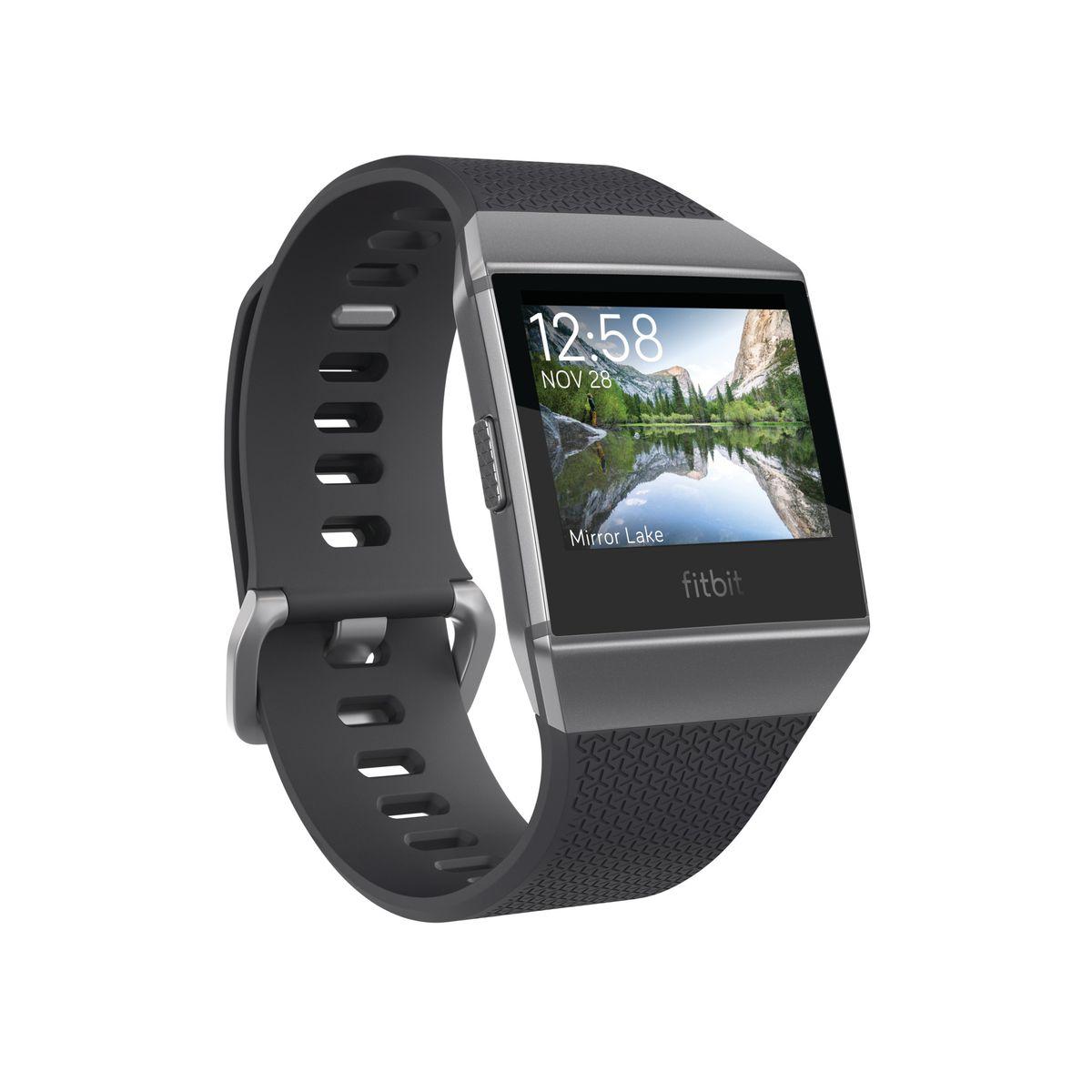 Fitbit ionic smart watch charcoal smoke grey buy online in fitbit ionic smart watch charcoal smoke grey fandeluxe Choice Image