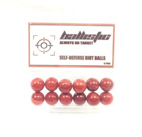 Ballisitic Paintball Ammo Self Defense Pepper Balls (Set of 12)