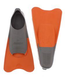 Aqualine Training Fins - Grey/Orange (Size: 3-5)