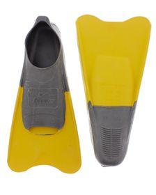 Aqualine Training Fins - Grey/Yellow (Size: 5-7)