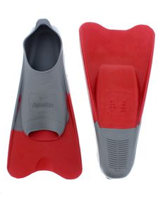 Aqualine Training Fins - Grey/Red (Size: 7-8)