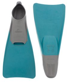 Aqualine Swim Fins - Grey/Aqua (Size: 1-3)