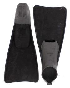 Aqualine Swim Fins - Grey/Black (Size: 11-12)