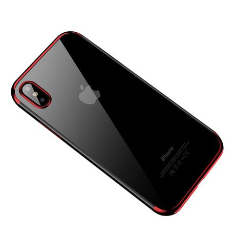 sale retailer 7b29f dde7f Tuff-Luv The Classic-X Case Cover Apple iPhone X - Clear/Red
