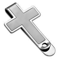Jewelworx Mens Latin Cross Money Clip