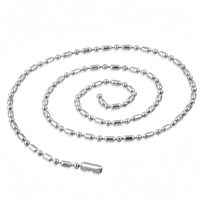 Jewelworx Mens Military Oval Ball Link Chain