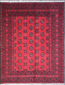 Rugs Original AAQCHA Afghan Design - Red (Size: 200 X 282)