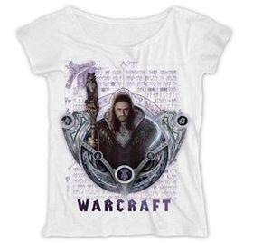 Warcraft: Medivh Script Ladies White T-Shirt (Parallel Import)