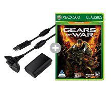 Xbox 360 Play & Charge Kit + Gears Of War Classic (Xbox 360 Generic)