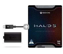 Xbox One Play and Charge Kit  + Halo 5 Guardians Ltd Edition (Xbox One)