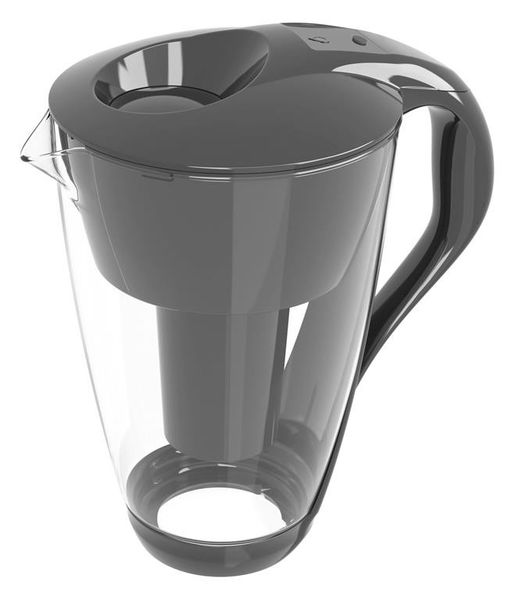 PearlCo Water Filter Jug Glass LED CLASSIC - 2 Litre - Anthracite
