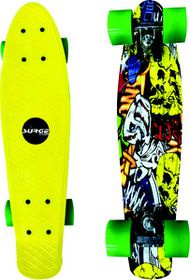 Surge Manic Icon Skateboard - Yellow