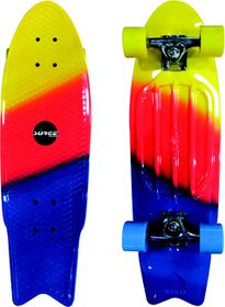 Surge Manic Fishtail Skateboard - Blue