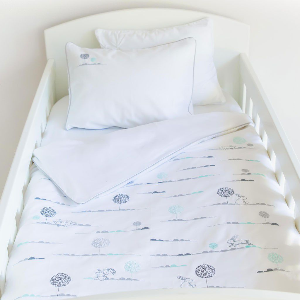 S And Kids Bunny Hop Egyptian Cotton Duvet Cover Set