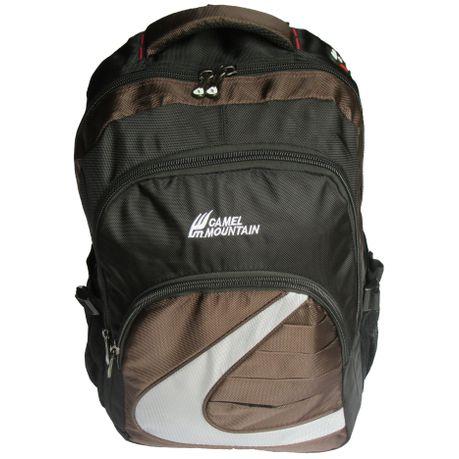 Camel Mountain Laptop Backpack Black Brown