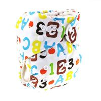 Luxe Life Reusable Cloth Nappy with 2 Micro Fibre Inserts - Alphabet Design