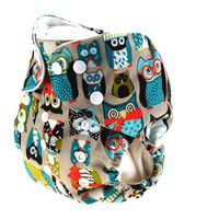 Luxe Life Reusable Cloth Nappy with 2 Micro Fibre Inserts - Owl Design