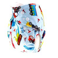 Luxe Life Reusable Cloth Nappy with 2 Micro Fibre Inserts - Car Design