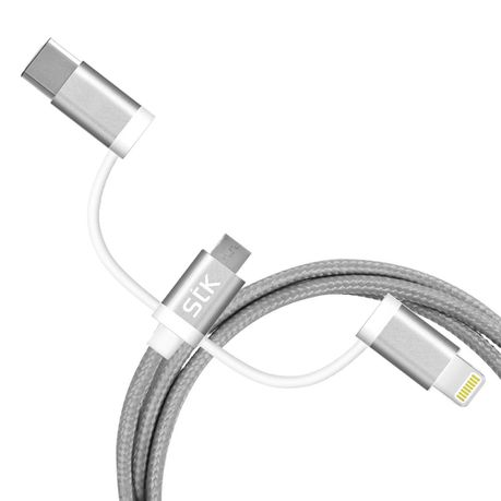 STK 3 Binary USB Charging Cable - Grey   Buy Online in South