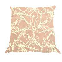 Soya Dekor Linen Cushion Cover with Microfibre Inner - Rose Strelitzia Design (60x60cm)