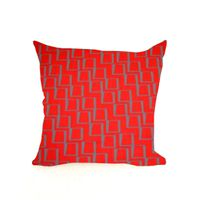 Soya Dekor Linen Cushion Cover with Microfibre Inner - Skuur se Muur Chile Design (60x60cm)