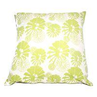 Soya Dekor Linen Cushion Cover with Microfibre Inner - Windpomp Lime Design (60x60cm)