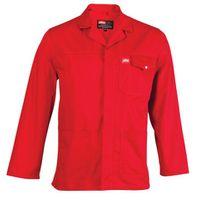 Jonsson Workwear Polycotton Work Jacket - Red